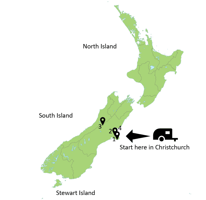 Christchurch New Zealand  map
