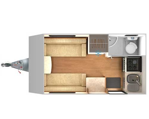 2 berth caravan top view