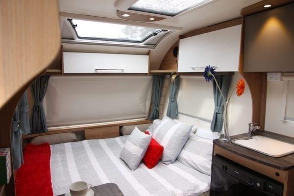 Pursuit 2 berth caravan double bed