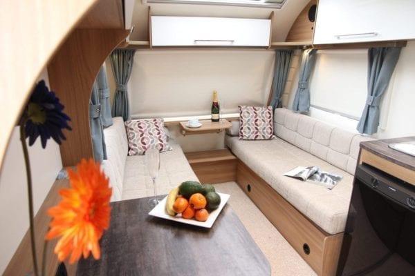 Pursuit 2 berth caravan lounge