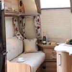 lounge left seat bailey 4 berth caravan