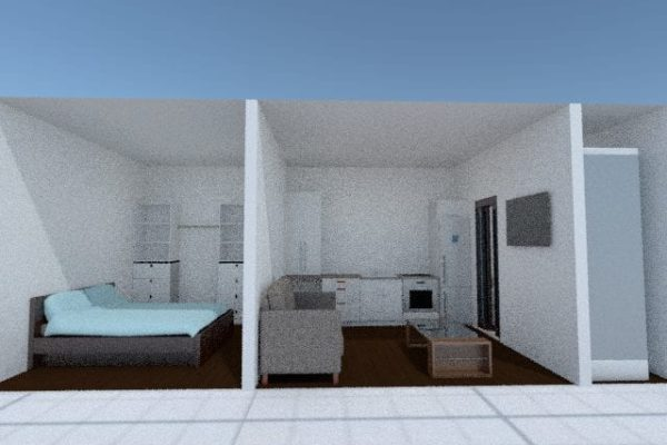 3d snapshot tiny house single bed Tiny homes