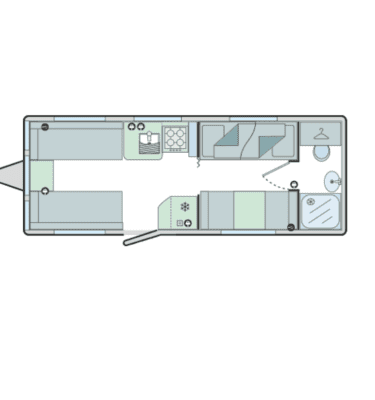 floor plan 5 berth caravan