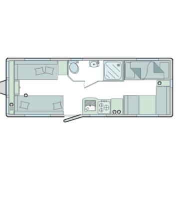 floor plan 6 berth caravan
