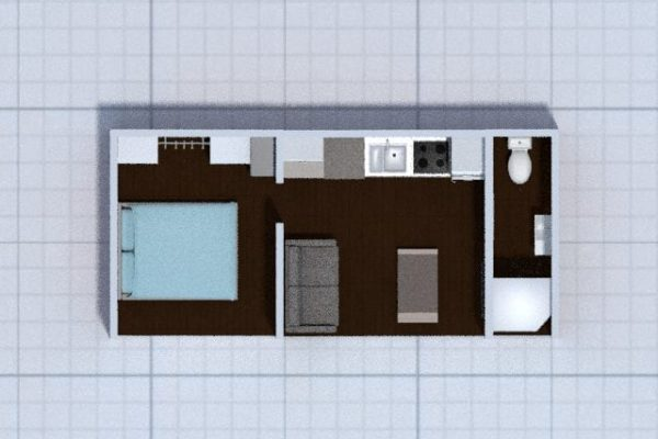 floorplan 1 bed unit