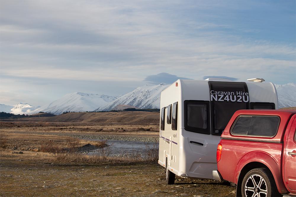 Caravan at Tekapo